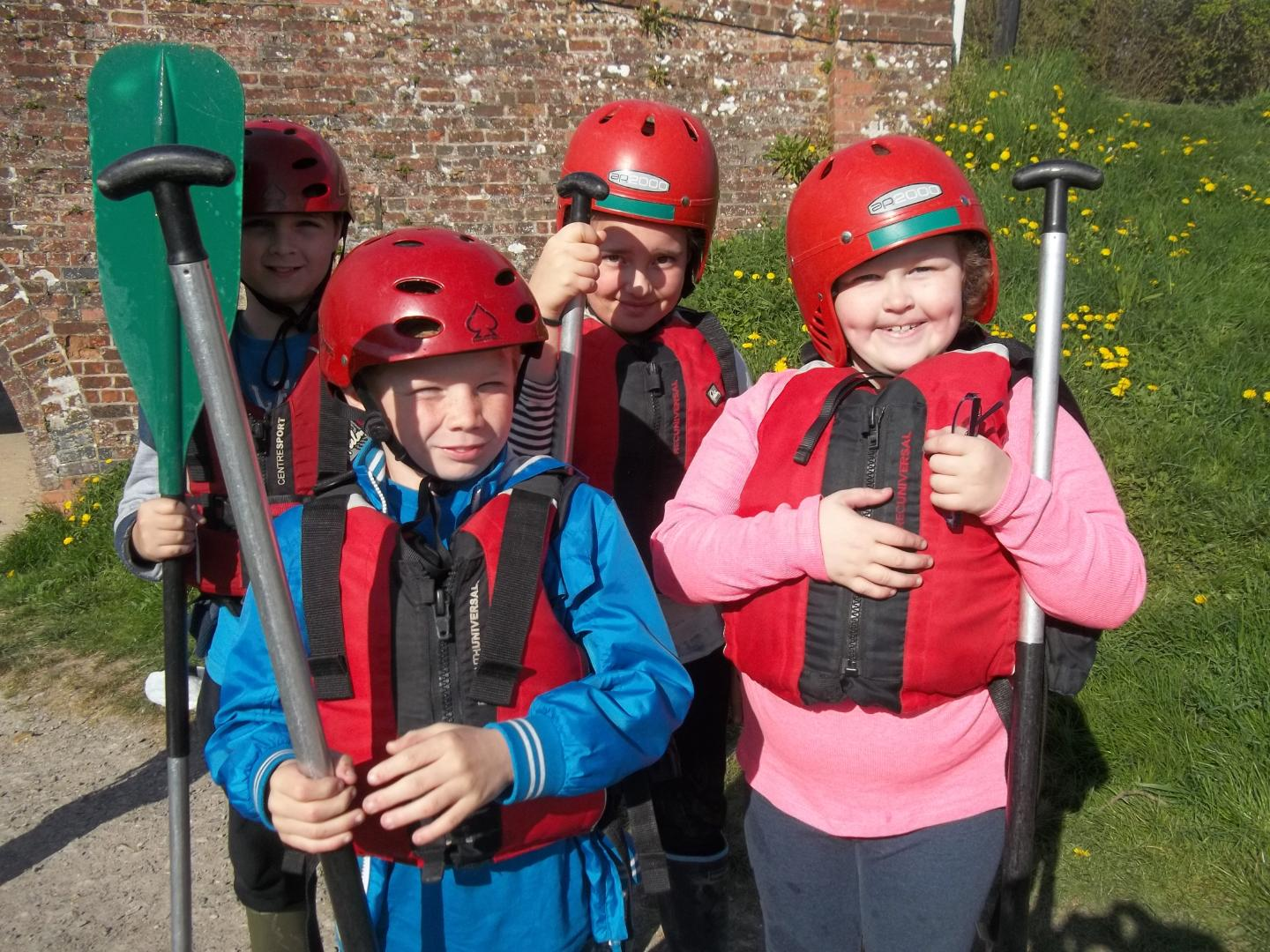 Canoeing fun at River Mead School
