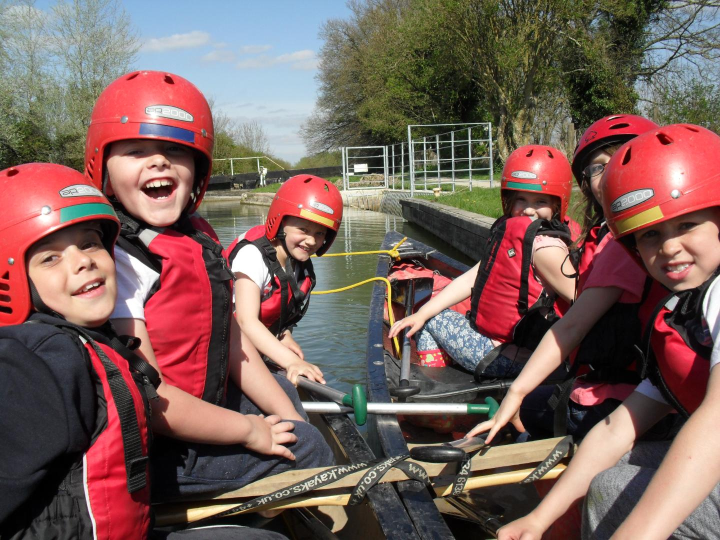 Fun on the canal at River Mead School