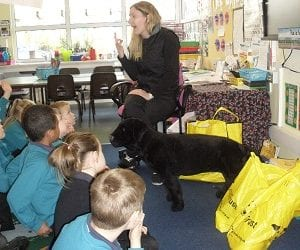 Children welcome Dogs Trust to River Mead