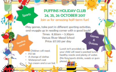 October 2017 holiday club